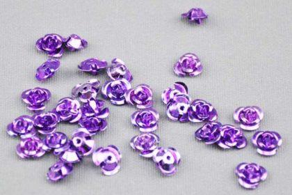 10 x Aluminum Rosen 8 mm, violett