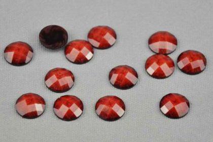 10 x Resin-Buttton 12 mm, rot