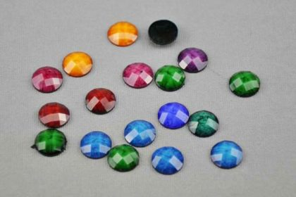 10 x Resin-Buttton 12 mm, vers. Farben