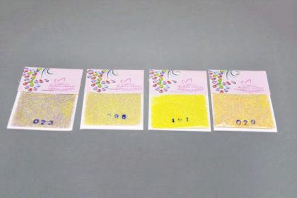 4er Set Glitzer in gelbtönen für Nail, Basteln usw.