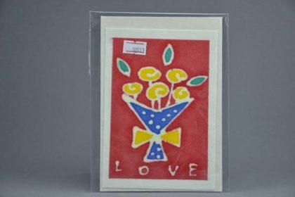 Geschenkekarte Motiv - Blumenstrauss und Love