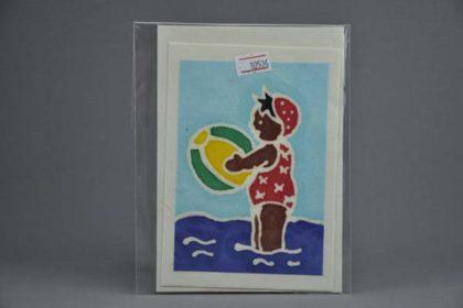 Geschenkekarte Motiv - Mädchen badend