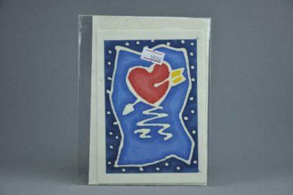 Geschenkekarte Motiv - Pfeil durchs Herz