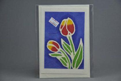 Geschenkekarte Motiv - Tulpen