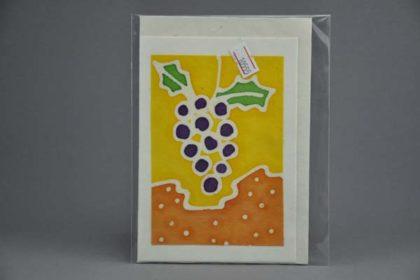 Geschenkekarte Motiv - Weintrauben