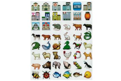 48 x Mini-Sticker's, 15 x 15 mm, Set 6