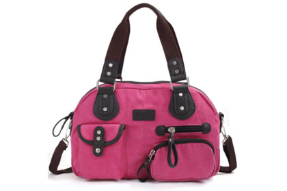 Eshow Damen Schultertasche 38x11.5x25cm, pinkEshow Damen Schultertasche 38x11.5x25cm, pink