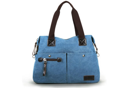 Eshow Damen Schultertasche 39x14x33cm, blau