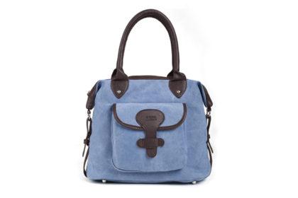 Eshow Damen Schultertasche 35x15x28cm, blau
