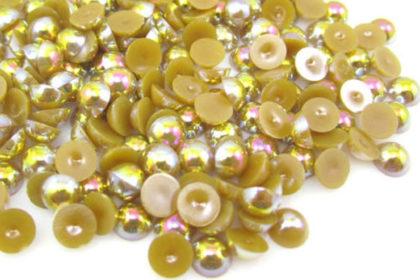 100 Stück Halb-Perlen 6 mm, braun
