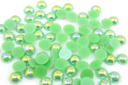 100 Stück Halb-Perlen 6 mm, dunkelgrün