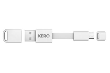 KERO Mikro USB Nomad Cable, weiss