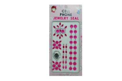 Kristallstein-Set mit Blüten sowie pinken und klaren Kristallen