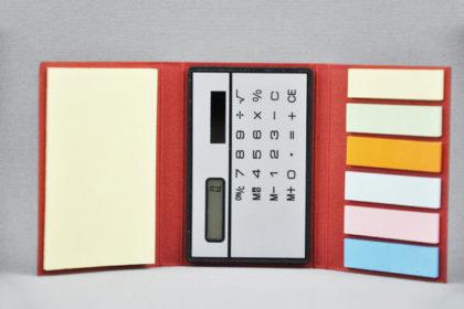 Memobox mit Rechner 9x6x1cm, rotMemobox mit Rechner 9x6x1cm, rot