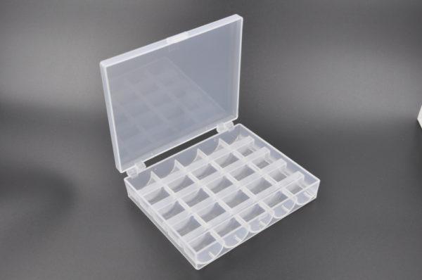 Plastikbox klar, 12 x 10 x 2.5 cm