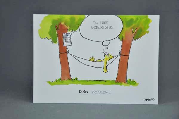 Postkarte Motiv Du Hast Geburtstag Dein Problem Elektronik