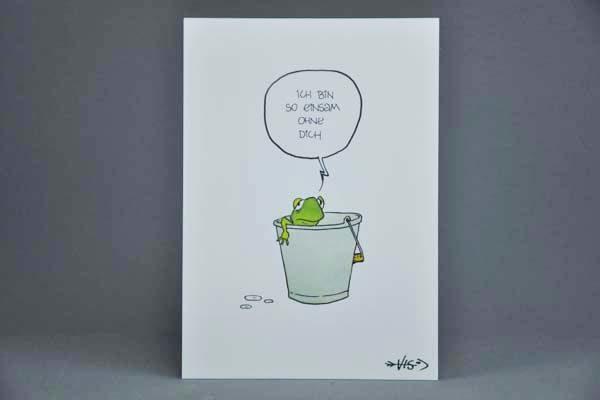 Postkarte Motiv - Ich bin so einsam ohne dich | Elektronik