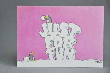 Postkarte Motiv - Just for fun