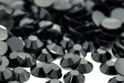 2000 Stück Rhinestone 3 mm, schwarz