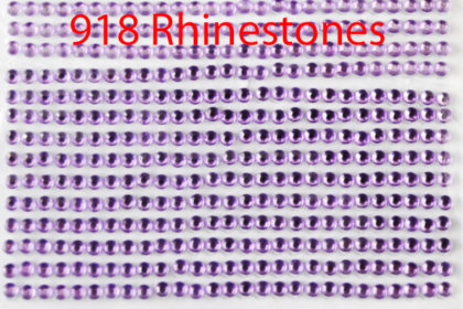 918 Stück Rhinestone 3 mm auf Karton, pink