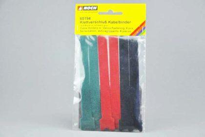6 x Noch Klettverschluss Kabelbinder, rot, schwarz, grün