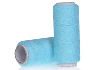 200m Polyester Faden zum Basteln, Nähen uvm., hellblau
