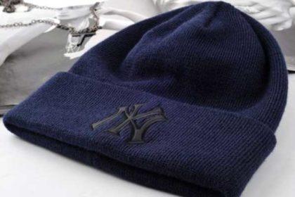 Beanie Woll-Mütze NY, dunkelblau