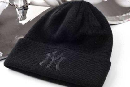 Beanie Woll-Mütze NY, schwarz