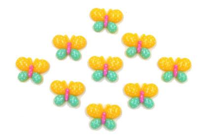 5 x Resin-Schmetterlinge 16 x 22mm