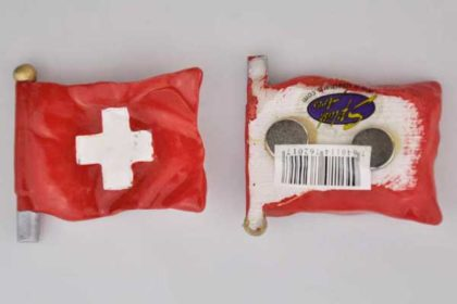 Splash Magnet-Fahne SWITZERLAND