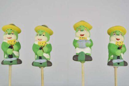 4er-Set Blumentopf-Grashüpfer mit Hut