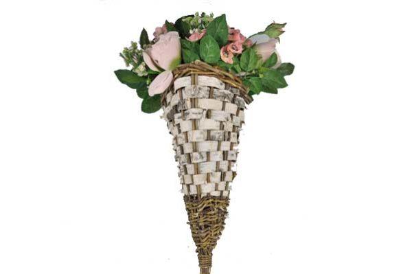 Blumenkorb inkl. künstlichen Blumen, 40 x 28 x 16 cm