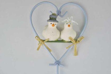 Blumentopf Hochzeits-Tauben