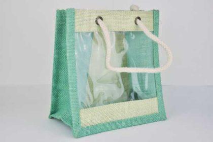 Deko-Tasche 16 x 17 x 9 cm, grün