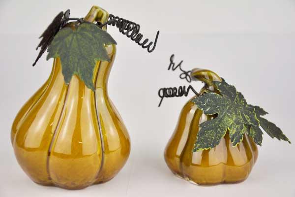 Kürbis-Set Porzellan, 11 x 7.5 x 7.5 cm / 7 x 5 x 5 cm