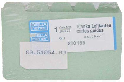 Biella Blanko-Leitkarten 1 Satz à 25 Karten, Gr. 1, 12.5 x 7.5 cm, hellblau
