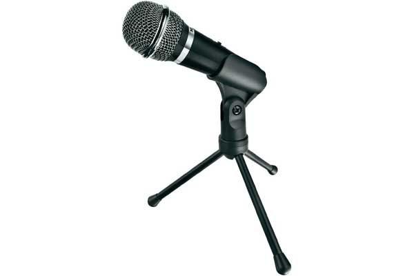 Trust Starzz Mikrofon kabelgebunden inkl. Klammer und Standfuss, schwarz