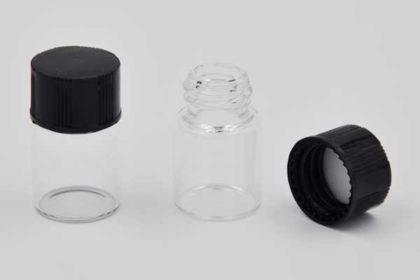 2 Stück Glasflasche mit Drehverschluss, 2ml