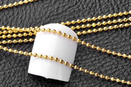 Kugelkette 1mm, Länge 1m, gold