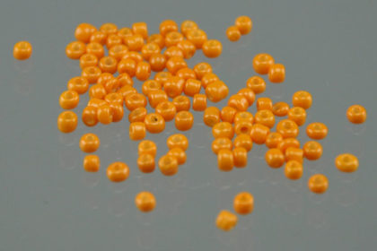 1000 Mini-Beads, Charms 2 mm, orange