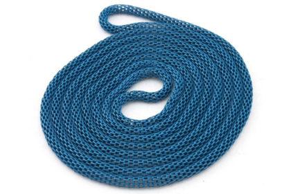 Hals-/Armkette aus Metall 120 cm, blau