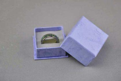 Ring-Geschenkbox 45 x 45 x 30 mm, blau