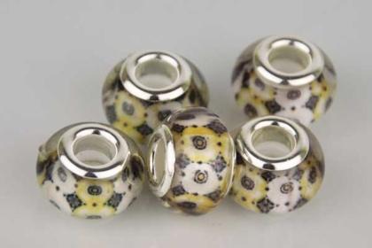 Lampwork Beads Murano, 14 x 10 mm, bunt