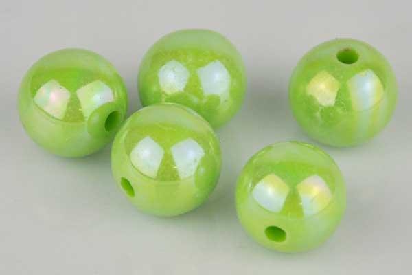 5 x Perlen mit Drahtloch 12 mm, grün – Elektronik • Haushalt ...
