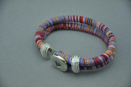 Armband für Charm Button 22cm, bunt