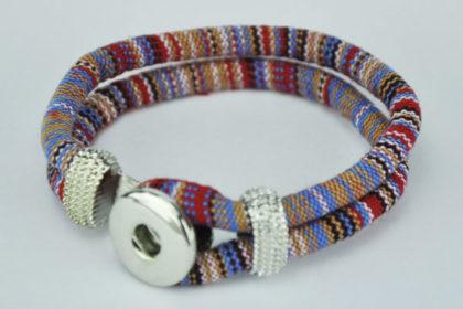 Armband für Charm Button, bunt