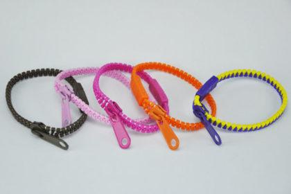 Reissverschluss-Armband in verschiedenen Farben