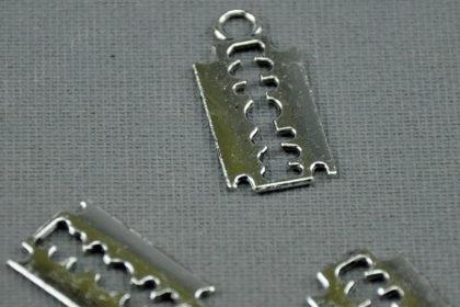 Tibet-Silber Ketten-Anhänger 23mm, RASIERKLINGE