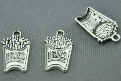 Tibet Silber Ketten-Anhänger 25 x 15mm, POMMES FRITES