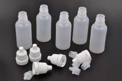 5 x Plastikflasche 15ml inkl. Sicherungs-Deckel